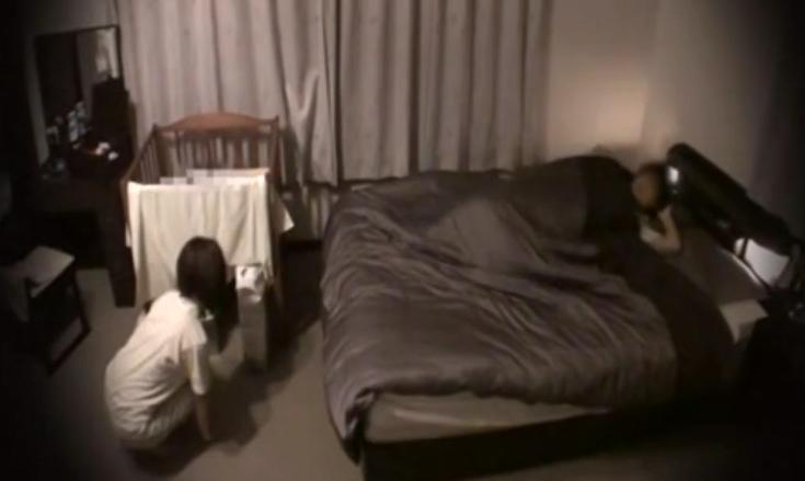 【リアル隠し撮り】赤ちゃんを寝かしつけた後の夫婦のリアルセックス【貴重】