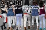 vol308-ぴったりタイトホワイトパンツのヒ…